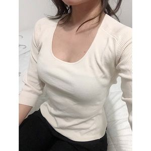 EXPRESS • blush pink basic stretchy top